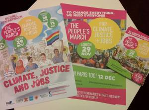Climate change march flyer